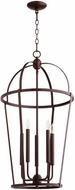 Quorum 6734-5-86 Mitre Oiled Bronze 18  Foyer Light Fixture