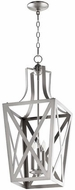 Quorum 6736-3-65 Iso Trap Satin Nickel 12  Foyer Lighting