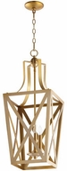 Quorum 6736-3-80 Iso Trap Aged Brass 12  Foyer Light Fixture
