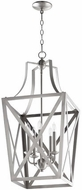 Quorum 6736-5-65 Iso Trap Satin Nickel 15  Foyer Light Fixture