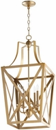 Quorum 6736-5-80 Iso Trap Aged Brass 15  Foyer Lighting Fixture
