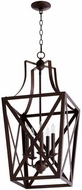 Quorum 6736-5-86 Iso Trap Oiled Bronze 15  Entryway Light Fixture