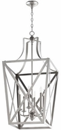 Quorum 6736-6-65 Iso Trap Satin Nickel 18  Foyer Lighting Fixture
