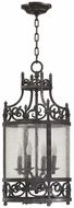 Quorum 6793-4-50 Lorenco Traditional Spanish Silver Foyer Light Fixture