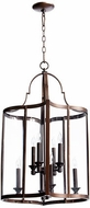 Quorum 6804-8-86 Kaufmann Oiled Bronze Foyer Lighting Fixture