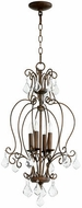 Quorum 6805-4-39 Ariel Traditional Vintage Copper Entryway Light Fixture