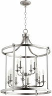 Quorum 6807-12-65 Lancaster Satin Nickel 22  Foyer Lighting