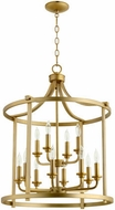 Quorum 6807-12-80 Lancaster Aged Brass 22  Foyer Light Fixture