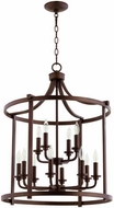 Quorum 6807-12-86 Lancaster Oiled Bronze 22  Foyer Lighting Fixture