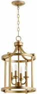 Quorum 6807-4-80 Lancaster Aged Brass 13  Foyer Lighting