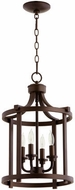 Quorum 6807-4-86 Lancaster Oiled Bronze 13  Foyer Light Fixture