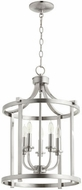 Quorum 6807-5-65 Lancaster Satin Nickel 15.5  Foyer Lighting Fixture