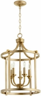 Quorum 6807-5-80 Lancaster Aged Brass 15.5  Entryway Light Fixture