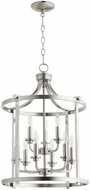 Quorum 6807-9-65 Lancaster Satin Nickel 18  Foyer Light Fixture