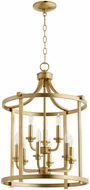 Quorum 6807-9-80 Lancaster Aged Brass 18  Foyer Lighting Fixture