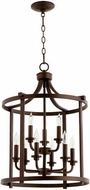 Quorum 6807-9-86 Lancaster Oiled Bronze 18  Entryway Light Fixture