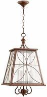 Quorum 6816-4-39 Salento Vintage Copper Foyer Lighting