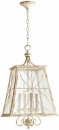 Quorum 6816-4-70 Salento Persian White With Mystic Silver Foyer Light Fixture