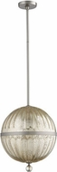 Quorum 683-14-65 Mercury Globe Modern Satin Nickel w/ Silver Mercury Ceiling Light Pendant