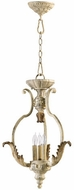 Quorum 6837-3-70 Florence Traditional Persian White Entryway Light Fixture