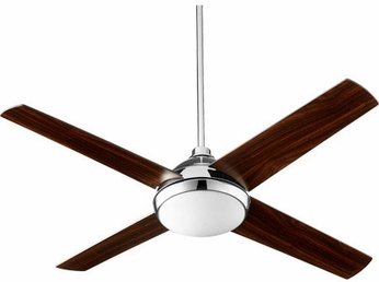 Quorum 68524-62 Quest Polished Nickel LED Ceiling Fan