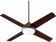 Quorum 68524-86 Quest Oiled Bronze w/ Walnut Blades LED 52  Home Ceiling Fan