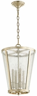 Quorum 689-4-60 Aged Silver Leaf w/ Clear/Seeded 13  Foyer Lighting