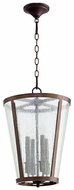 Quorum 689-4-86 Oiled Bronze w/ Clear/Seeded 13  Foyer Light Fixture
