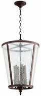 Quorum 689-6-86 Oiled Bronze w/ Clear/Seeded 16  Entryway Light Fixture