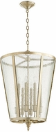 Quorum 689-8-60 Aged Silver Leaf w/ Clear/Seeded 18  Foyer Lighting