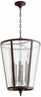 Quorum 689-8-86 Oiled Bronze w/ Clear/Seeded 18  Foyer Light Fixture