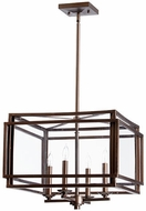 Quorum 6904-4-86 Kaufmann Oiled Bronze Foyer Lighting Fixture