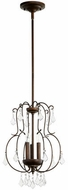Quorum 6905-3-39 Ariel Traditional Vintage Copper Foyer Lighting