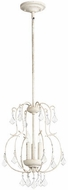 Quorum 6905-3-70 Ariel Traditional Persian White Foyer Light Fixture