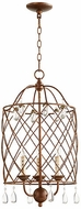 Quorum 6944-3-39 Venice Traditional Vintage Copper 13.5  Foyer Light Fixture