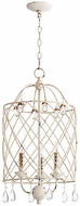 Quorum 6944-3-70 Venice Traditional Persian White 13.5  Foyer Lighting Fixture