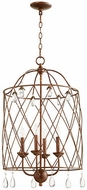 Quorum 6944-4-39 Venice Traditional Vintage Copper 17  Entryway Light Fixture
