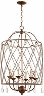 Quorum 6944-6-39 Venice Traditional Vintage Copper 20  Foyer Light Fixture