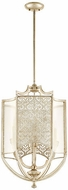 Quorum 6975-4-60 Bastille Contemporary Aged Silver Leaf Entryway Light Fixture