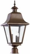 Quorum 7032-3-86 Bishop Oiled Bronze Exterior Lamp Post Light
