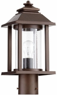 Quorum 7274-86 Crusoe Oiled Bronze Outdoor Post Light Fixture