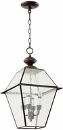 Quorum 728-4-136 Duvall Bronze w/ Clear/Seeded Exterior Drop Ceiling Lighting