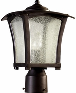 Quorum 7512-8-86 Gable Oiled Bronze Outdoor Post Lamp
