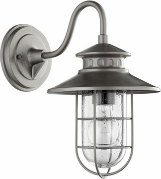Quorum 7696-3 Moriarty Nautical Graphite Exterior 8  Wall Lighting Sconce