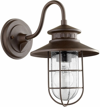 Quorum 7696-86 Moriarty Nautical Oiled Bronze Exterior 8 Wall Mounted Lamp