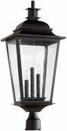 Quorum 7732-3-69 Pavilion Noir Exterior Post Light Fixture