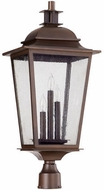 Quorum 7732-3-86 Pavilion Oiled Bronze Outdoor Post Lighting Fixture