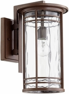 Quorum 7916-9-186 Larson Oiled Bronze w/ Clear Hammered Glass Outdoor Lighting Wall Sconce