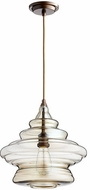 Quorum 8003-386 Filament Contemporary Oiled Bronze w/ Amber Ceiling Light Pendant