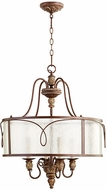 Quorum 8006-4-39 Salento Vintage Copper Drum Lighting Pendant